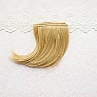 Волосы для кукол каре в трессах, светло-русые - 25 см