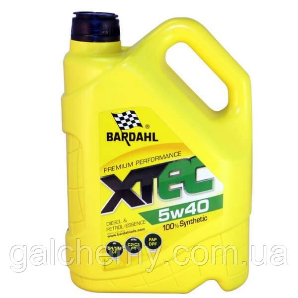 Моторне масло Bardahl XTEC 5W40 5 л (36343)