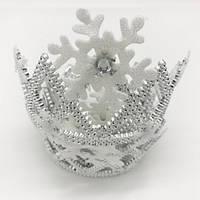 Корона пластик со снежинками, Диадема