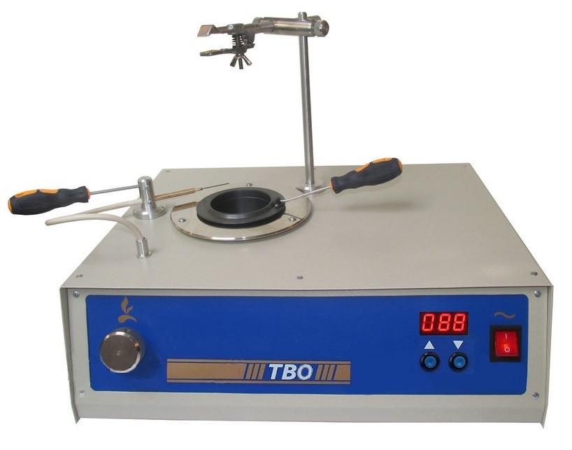 Аппарат ТВО для определения температуры вспышки в открытом тигле