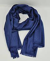 Кашемировый палантин Louis Vuitton синий  двусторонний