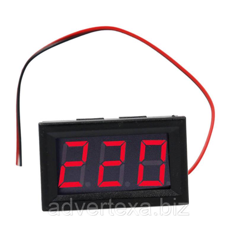 """Вольтметр AC 70 - 500 В 0.56 """" красный светодиодный"""