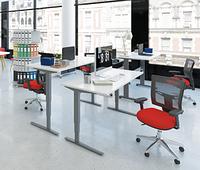 501-43 7(S, W, B) 112-152: Эргономичный компьютерный стол (новая модель с регулировкой ширины базы)