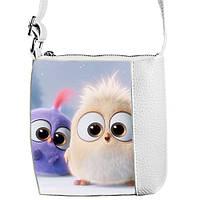 Белая сумочка для девочки Маленькая принцесса Злые птички