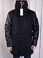 Зимняя куртка парка мужская GLO - STORY black (реплика)