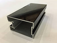 Профиль алюминиевый для раздвижных дверей, цвет венге