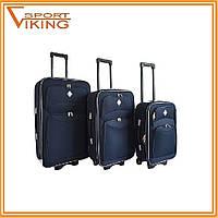 Чемодан сумка Bonro Style набор (3 штуки) темно-синий
