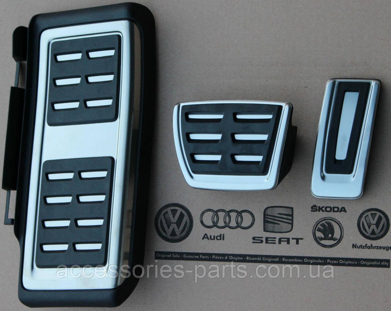 Накладки на педали Volkswagen Passat B8 14-2016 для АКПП Новые Оригинальные