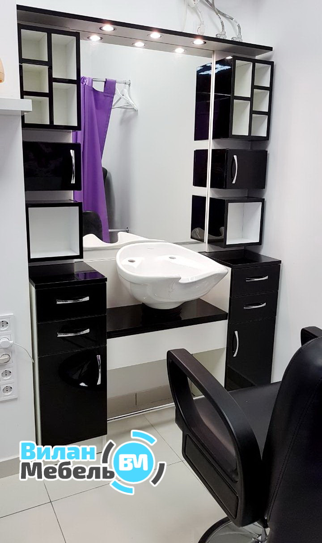 Робоче місце перукаря з вбудованою мийкою
