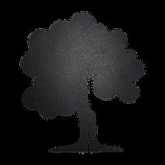 Доска меловая фигурная Дерево ПХ 470х530 мм