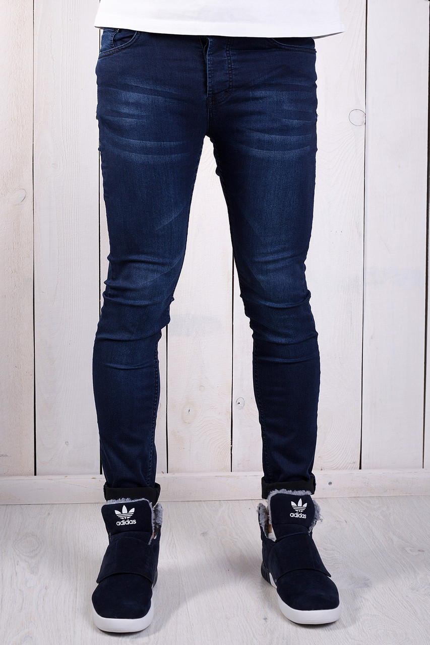 38631180a3f Модные мужские джинсы зауженные с потертостями - купить по лучшей ...