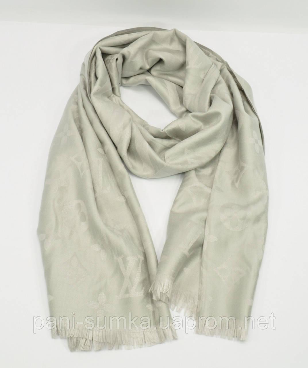 Кашемировый палантин Louis Vuitton серебристый двусторонний  продажа ... b59044331b4