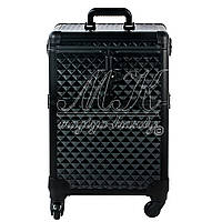 """Большой чемодан для косметики, раскладной на колесах """"Black Diamonds"""""""