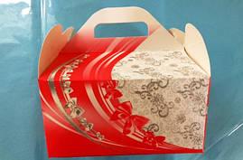 Коробки для свадебного каравая (красна)