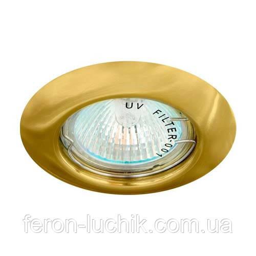 Вбудований світильник Feron DL13 GU5.3 МR-16 золото