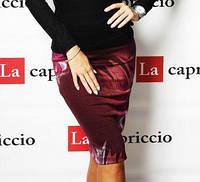 Женская трикотажная юбка с  принтом Saddle 5-055 ,S,M,L