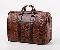 Мужская сумка-саквояж дорожная из натуральной кожи  SL 842