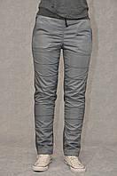 Спортивные женские брюки комбинированные полу батал