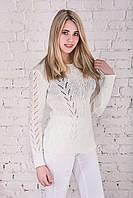 Вязаные женские свитера Света-3 из шерсти и акрила