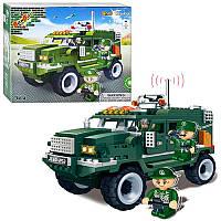 Конструктор BANBAO 8252 военный джип с инерционным механизмом 290 деталей