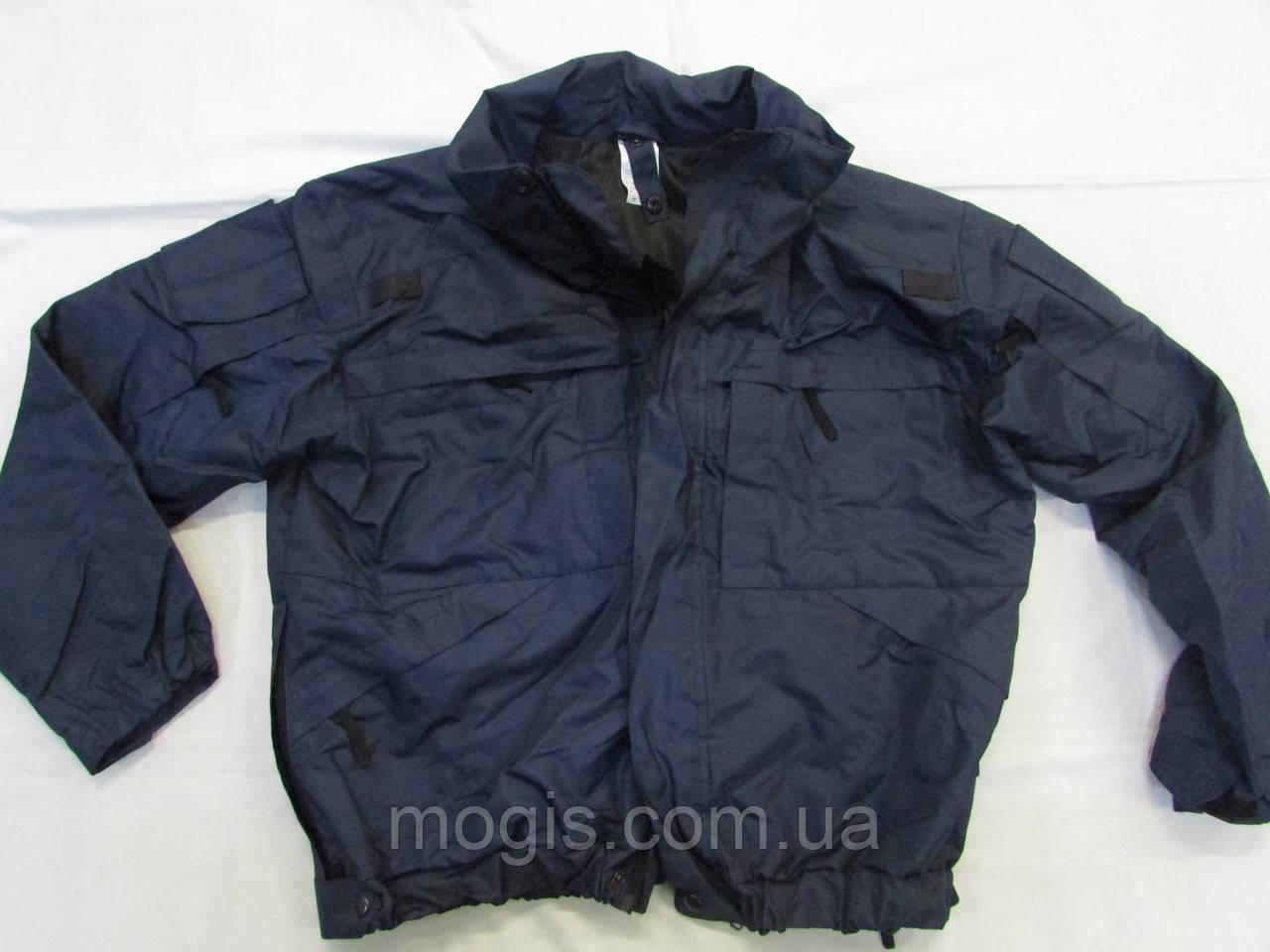 Куртка синяя с флисовой подстежкой