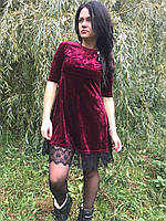 Молодежное платье бархат