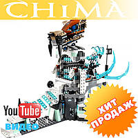 Конструктор чима Bela 10296 аналог LEGO Chima Ледяная крепость Сэра Фангара 668 дет