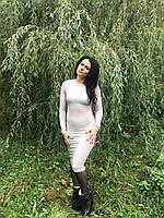 Стильное удлиненное молодежное платье
