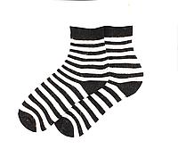 Носки женские  Любава - 3842 черные в полоску