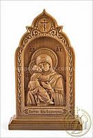 Резная икона Матерь Божья Владимирская