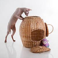 Willow Twig Cat Basket Natural - Плетеный (домик-переноска из лозы для кота)