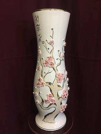 Ваза напольная керамическая для цветов и цветочных композиций пастель , фото 2
