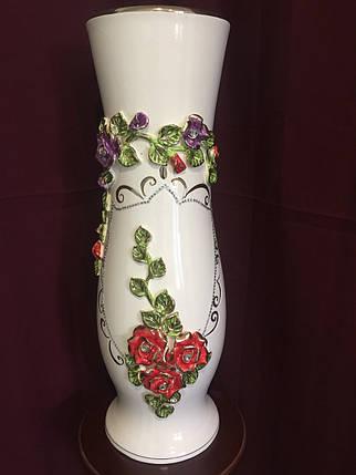 Ваза напольная керамическая для цветов и цветочных композиций цветная лепка  , фото 2