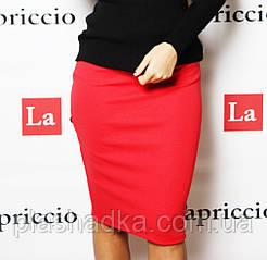 Женская юбка карандаш, цвет красный