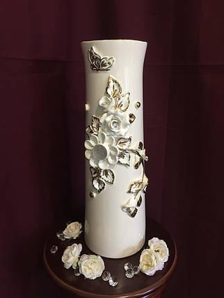 """Ваза настольная керамическая для цветов и цветочных композиций """"Лепка"""", фото 2"""