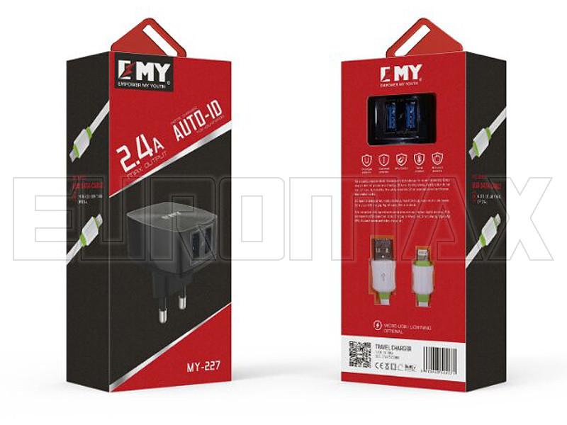 Зарядное устройство Empower My Youth 220В 2USB MY-227