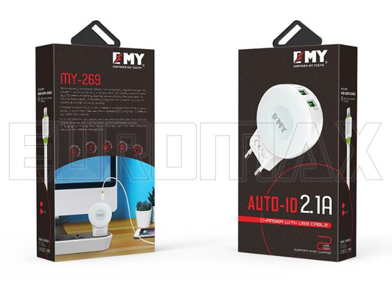 Зарядное устройство Empower My Youth 220В 2USB MY-269