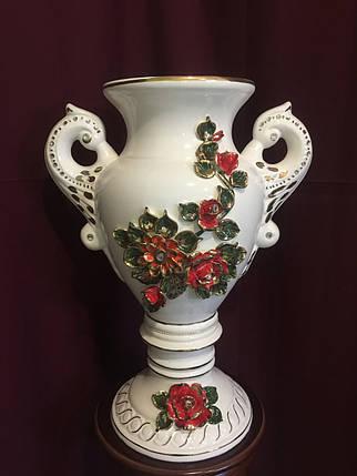 """Ваза настольная керамическая для цветов и цветочных композиций """"Афина""""  цветная лепка, фото 2"""