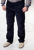 Мужские вельветовые темно-синие джинсы BLK 7898