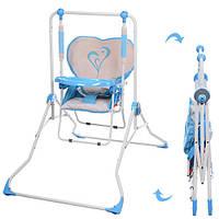 Детская Качели NA 05-4 сердечко голубое