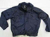 Куртка темносиняя тактическая с флисовой подстежкой