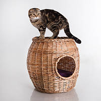 Willow Twig Cat Home Natural - Дом (домик-столик из лозы для кота)