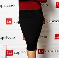 Женская юбка карандаш, цвет черный, фото 1