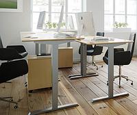 501-33 7(S, W, B) 112-152: Эргономичный офисный стол с регулировкой ширины основы (новая бюджетная модель)