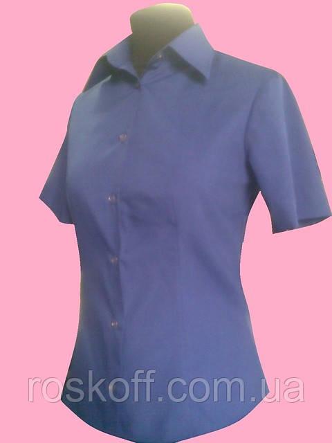 15829df446c Женская блузка на короткий рукав синего цвета - Оптовая и розничная продажа  мужской и женской одежды