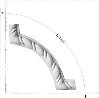 Гипсовая лепнина: декоративные уголки из гипса. Угол рамы с декором (Ліпнина з гіпсу)