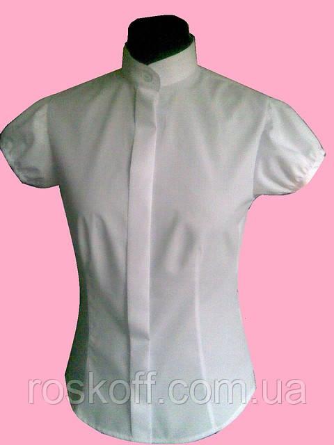 Женская блузка на короткий рукав белого цвета