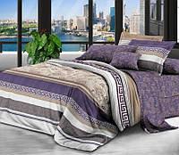 Полуторное постельное белье с простыней на резинке 90/200/25 Мажестик, ранфорс