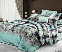 Полуторное постельное белье с простыней на резинке 90/200/25 Лагуна, ранфорс