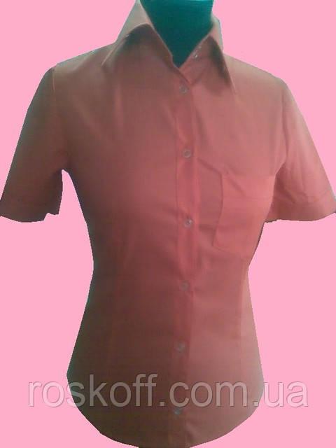 Женская блузка на короткий рукав красного цвета